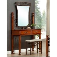 Будуарный столик + зеркало + пуф БАВАРИЯ